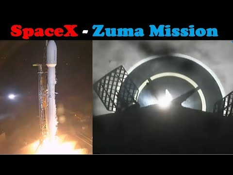 connectYoutube - SpaceX Zuma Mission - Falcon 9 Launch & First Stage Landing