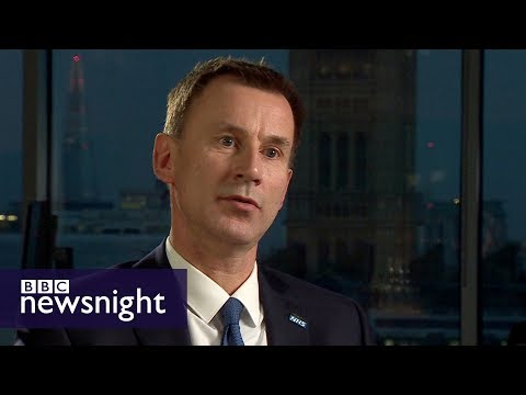 connectYoutube - Is the NHS in crisis? Interview with Health Secretary Jeremy Hunt - BBC Newsnight