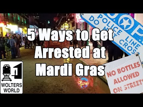 connectYoutube - 5 Easy Ways to Get Arrested at Mardi Gras