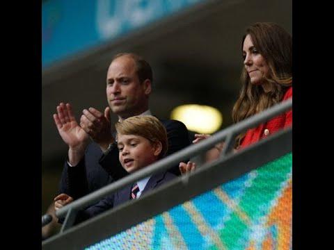Finale de l'Euro 2021: le prince George fou de joie au 1er but de l'Angleterre