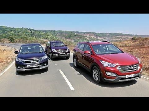 OVERDRIVE Comparo - 2014 Hyundai SantaFe vs Honda CR-V vs Ssangyong Rexton Honda -  Videos