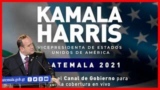 Ultima Noticia Guatemala, Arribo de la vicepresidenta de Estados Unidos, Kamala Harris a Guatemala