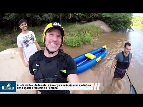 Atleta visita cidade natal e enxerga, em Aquidauana, o futuro dos esportes radicais do Pantanal