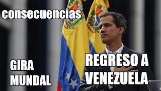 JUAN GUAIDO SU REGRESÓ A VENEZUELA TRAS GIRA INTERNACIONAL..!!!
