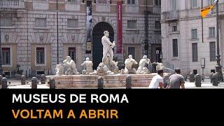Museus de Roma reabrem ao público com medidas de distanciamento social