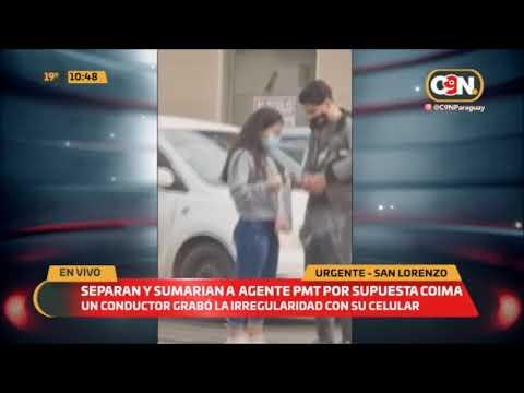 Separan y sumarian a agente de la PMT por supuesta coima en San Lorenzo