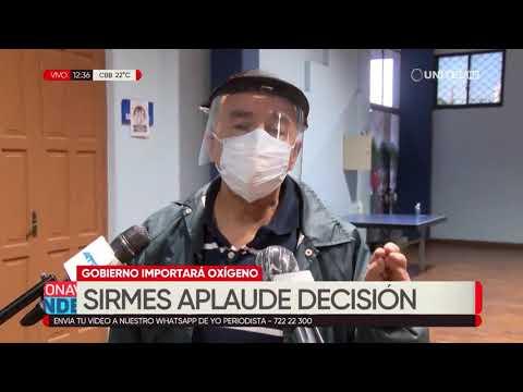 Sector salud, en Cochabamba, aplaude la decisión de importar oxigeno