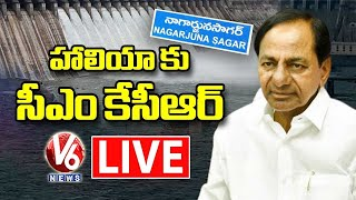 CM KCR LIVE | KCR Review On Nagarjuna Sagar Development Works | Haliya | V6 News - V6NEWSTELUGU