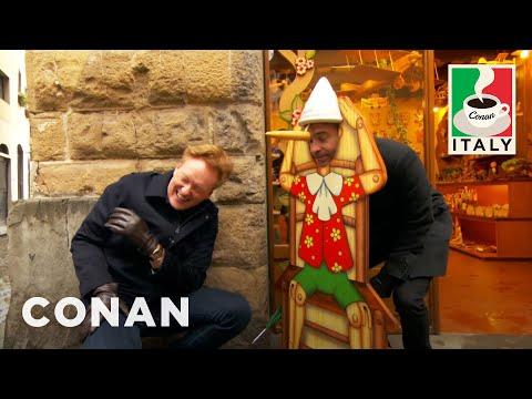 connectYoutube - Conan & Jordan Schlansky Hit The Streets Of Florence  - CONAN on TBS