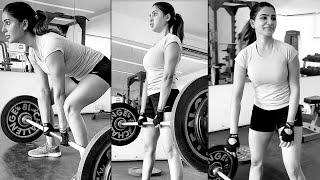 Actress Samantha Doing Heavy GYM Workouts At Home | Telugu Actress Gym Videos - TFPC