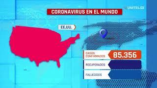 EEUU es el país con más casos de coronavirus, sumó 18 mil casos en un día