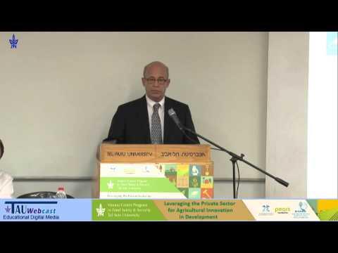 Welcome remarks: Prof. Joseph Klafter, President, Tel Aviv University