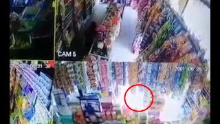Asalto quedó grabado en una tienda de Jutiapa
