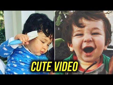 CUTE Taimur Ali Khan COMBS His Hair | Kareena Kapoor | Saif Ali Khan | Baby Videos