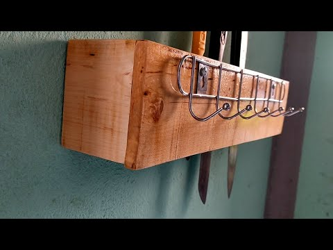 สอนทำที่เก็บมีดในครัว-สวยงามไม