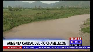 ¡No se confíe! Sin amenaza pero en ascenso, el nivel del río Chamelecón