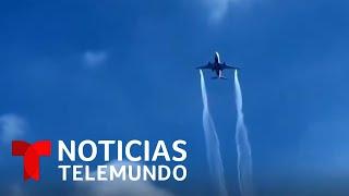 Exigen respuestas por el derrame de combustible de un avión sobre escuelas   Noticias Telemundo