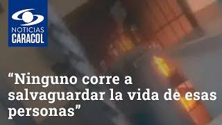 """""""Ninguno corre a salvaguardar la vida de esas personas"""": fiscal sobre incendio en CAI San Mateo"""