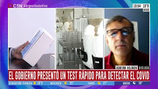 El gobierno presentó un test rápido para detectar covid-19