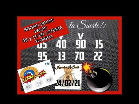BOOM!! BOOM!! PALE 95 y 15 EN LOTERIA FLORIDA!!