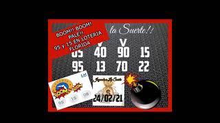 BOOM!! BOOM!! PALE 95 y 15 EN LOTERIA FLORIDA!!????????????