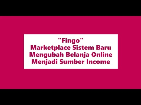 Berburu Income Dari Marketplace Fingo