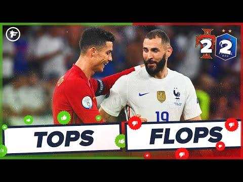 Portugal-France (2-2) : Karim Benzema flambe enfin, Cristiano Ronaldo clinique   Tops et Flops
