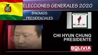 BINOMIOS PRESIDENCIALES BOLIVIA 2020