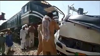 19 Sikh pilgrims killed in bus-train collision in Pak - IANSINDIA