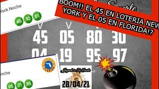 BOOM!! BOOM!! EL 45 EN LA LOTERIA NEW YORK Y EL 04 EN LA LORERIA FLORIDA!!????????????
