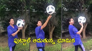 Actress Bhumika Chawla Playing With Football | Rajshri Telugu - RAJSHRITELUGU