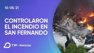 Controlaron el incendio en un depósito de San Fernando