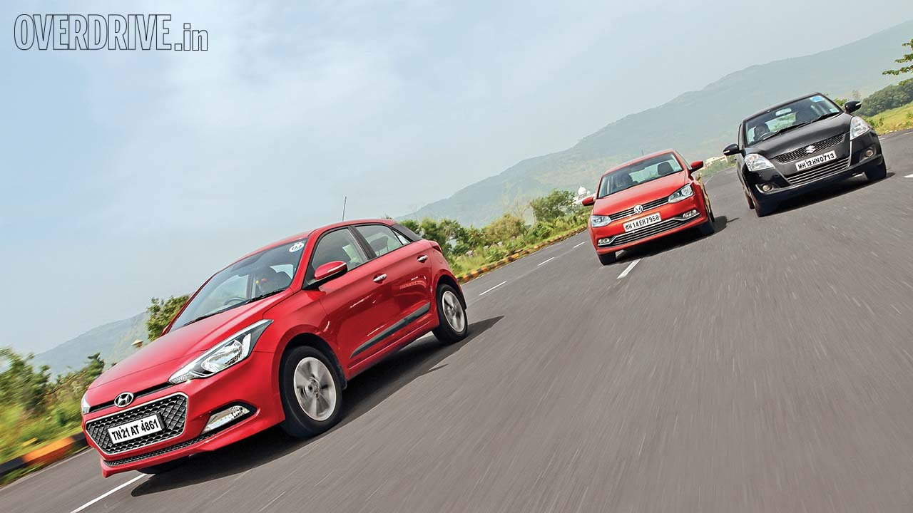 Hyundai Elite i20 vs Volkswagen Polo vs Suzuki Swift - Diesel Comparative Review - Maruti Videos