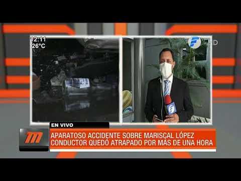 Aparatoso accidente sobre Mariscal López