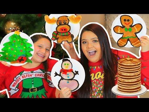 connectYoutube - PANCAKE ART CHALLENGE! How To Make Holiday Art Pancakes!