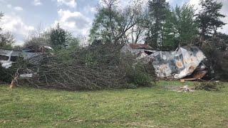 RAW VIDEO: Tornado damage Sunday in Pitt County