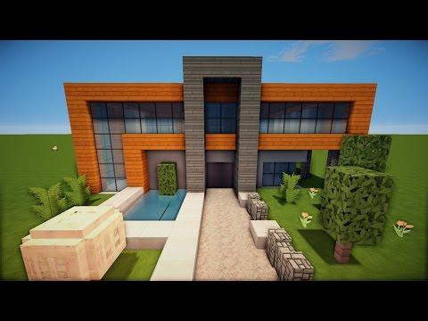 Minecraft moderne luxus villa mit moderner einrichtung und for Minecraft modernes haus tutorial