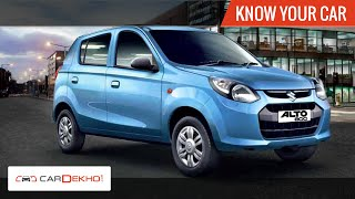 Know Your Maruti Alto 800 | Review of Features | CarDekho.com
