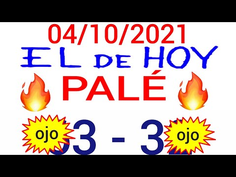 NÚMEROS PARA HOY 04/10/21 DE OCTUBRE PARA TODAS LAS LOTERÍAS...!! Números reales 05 para hoy...!!