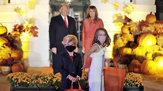 Trump confronted by mini-Trump at White House Halloween event