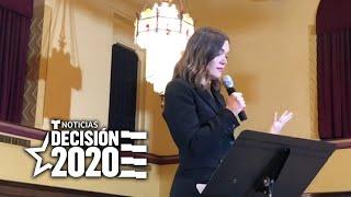 Mandy Moore pide a votantes en Iowa que apoyen a Pete Buttigieg   Noticias Telemundo