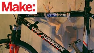 CNC Deer Trophy Bike Rack