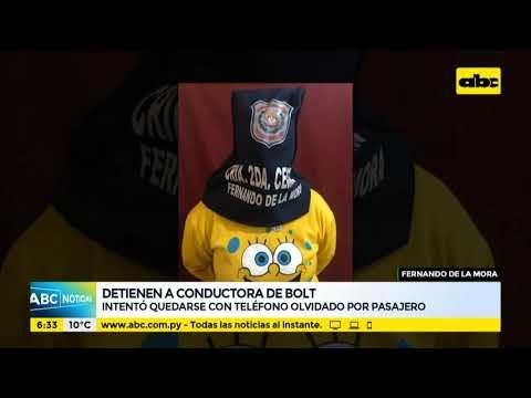 Detienen a conductora de Bolt en Fernando de la Mora