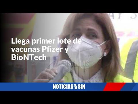 Llega primer lote de vacunas Pfizer y BioNTech