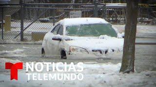 Calles convertidas en ri?os de agua y hielo en Wisconsin   Noticias Telemundo