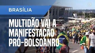 MANIFESTAÇÃO EM FAVOR DO GOVERNO BOLSONARO ATRAI MULTIDÃO E AGLOMERAÇÕES EM BRASÍLIA