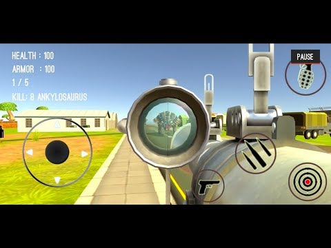 connectYoutube - Dinosaur Hunter Dino City 2017 #44 (Dinosaurs 22-24) - Android Gameplay
