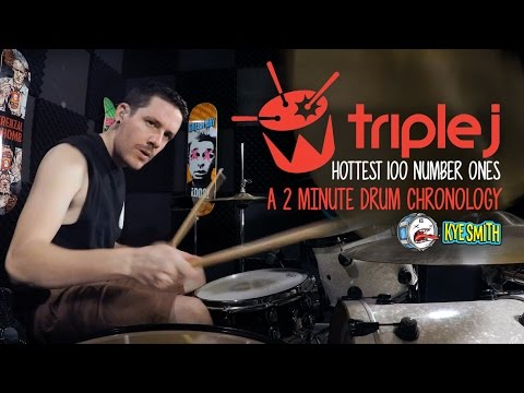 connectYoutube - Triple J Hottest 100 Number Ones: A 2 Minute Drum Chronology - Kye Smith [4K]