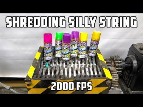 connectYoutube - Shredding Silly String with Shredder