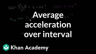Average acceleration over interval